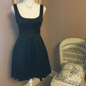 Black satin feel occasion dress.